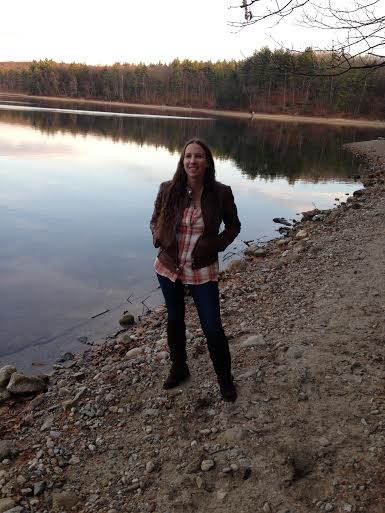 Rebecca Brooks at Walden Pond in Concord, Mass, 2015